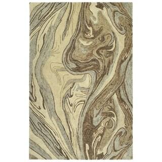 "Hand-Tufted Artworks Sand Wool Rug - 5' x 7'9"""
