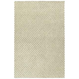 "Hand-Tufted Snook Beige Wool Rug - 5' x 7'9"""