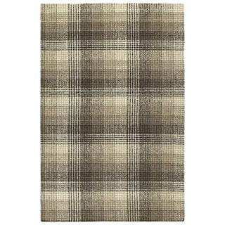 "Hand-Tufted Snook Brown Wool Rug - 5' x 7'9"""