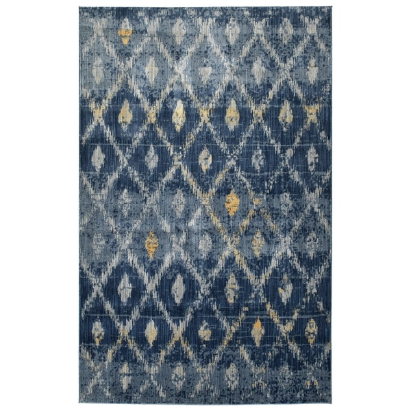 "Machine-Made Loki Denim Polypropylene Rug - 5'3"" x 7'3"""