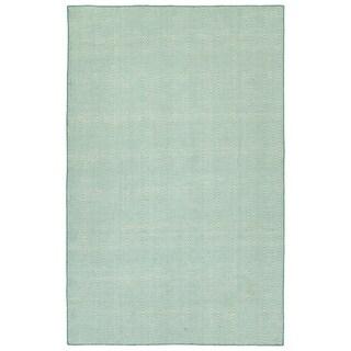 """Indoor/Outdoor Eden Chevron Lt. Blue Polyester Rug - 5' x 7'6"""""""