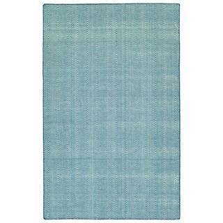 """Indoor/Outdoor Eden Chevron Denim Polyester Rug - 5' x 7'6"""""""