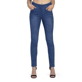 Bluberry Women's Romola Indigo Light Slim Leg Denim (Option: 18w)
