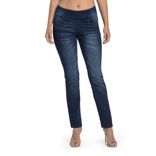 Bluberry Women's Dora Medium Blue Straight Leg Denim