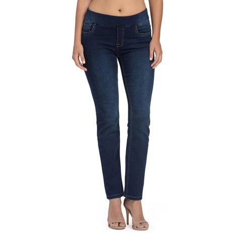 Bluberry Women's Ira Blue Rinse Straight Leg Denim