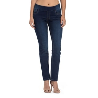 Bluberry Women's Ira Blue Rinse Straight Leg Denim