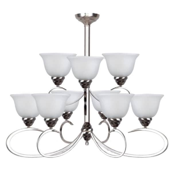 Yosemite Home Décor Ribbon Fall Collection Nine Light Chandelier