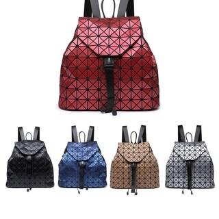 Kate Marie Fashion Geometric Backpack (Option: Silver)