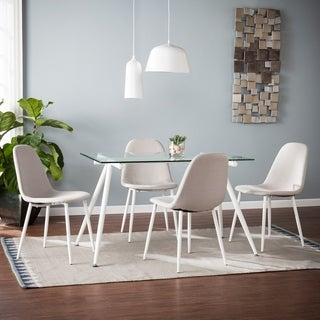 Harper Blvd Romford Dining Table and Chairs 5 pc Set - White w/ Gray