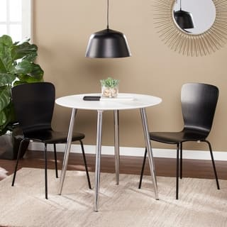 Harper Blvd Maydelle White Wood and Iron Round Dining/Game Table|https://ak1.ostkcdn.com/images/products/18054885/P24218817.jpg?impolicy=medium