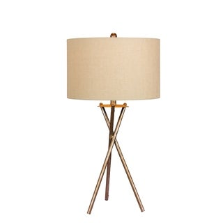 Fangio Lighting's 1545RSIL 31 in. Industrial Tripod Metal Table Lamp in a Rusted Silver Finish
