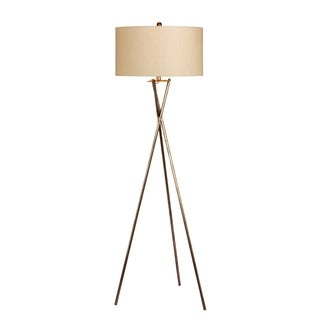 Fangio Lighting's 1538RSIL 63.5 in. Industrial Tripod Metal Floor Lamp in a Rusted Silver Finish
