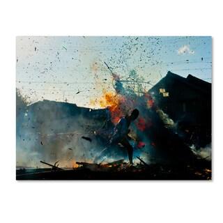 Tetsuya Hashimoto 'Fire Festival' Canvas Art