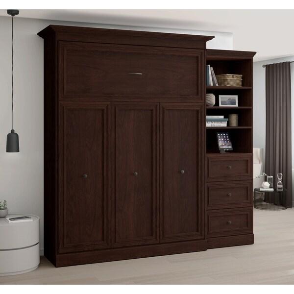Delicieux Bestar Novello Veneer Queen Wall Bed With 3 Drawer Storage Unit
