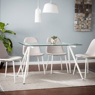 Silver Orchid Nielson Contemporary Rectangular Dining Table - White