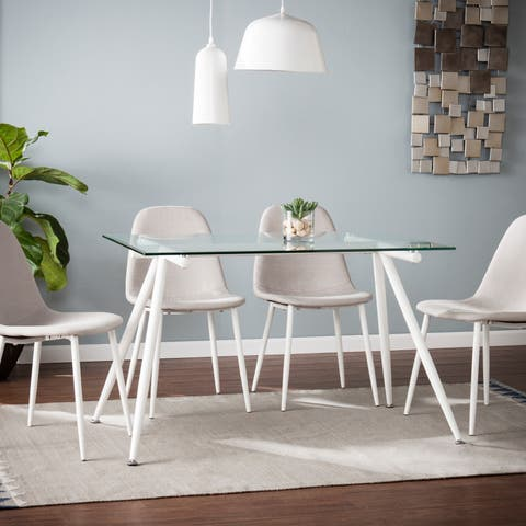 Silver Orchid Nielson Contemporary Rectangular Dining Table