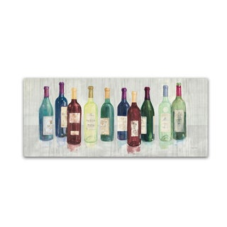 Avery TIllmon 'Keeping Good Company on Wood Red Wine' Canvas Art