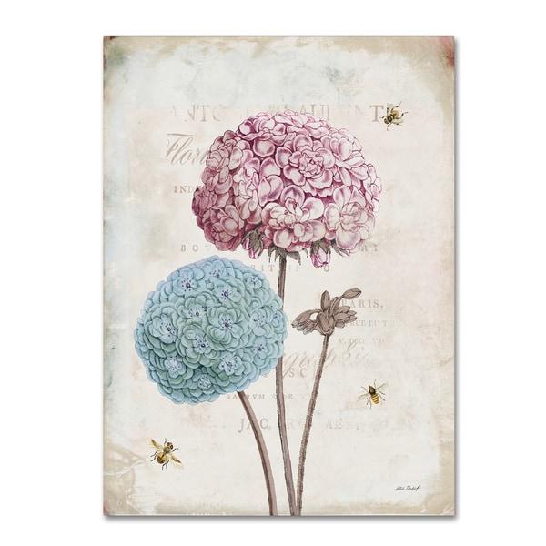 Katie Pertiet 'Geranium Study II Pink Flower' Canvas Art