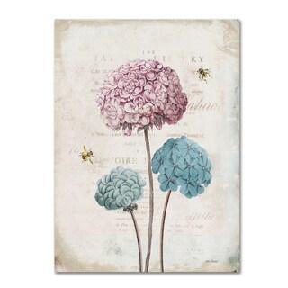 Katie Pertiet 'Geranium Study I Pink Flower' Canvas Art