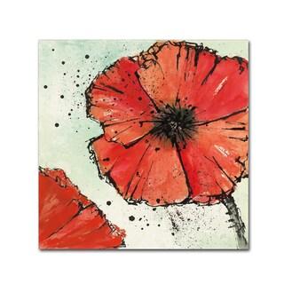 Chris Paschke 'Not a California Poppy IV' Canvas Art