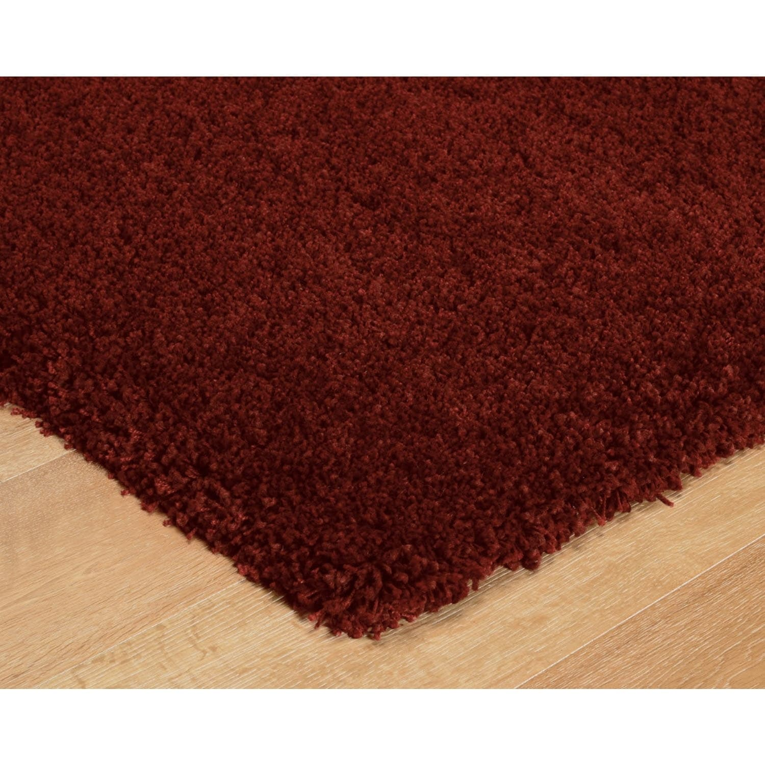 Luxury Red Thick Shag Area Rug - 8 x 10 (Red - 8 x 10)
