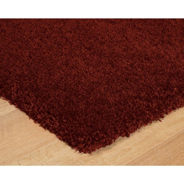 Luxury Red Thick Shag Area Rug - 8' x 10'