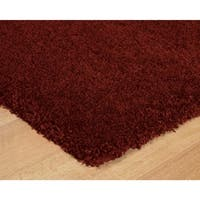Luxury Red Thick Shag Area Rug - 7'10 x 10'
