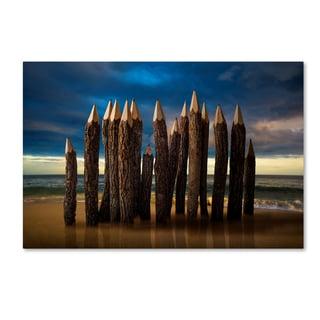 Dawagner 'Pencil Beach' Canvas Art