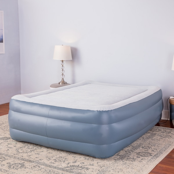 Sharper Image Premier Memory Foam 24 Inch Queen Size Air Bed
