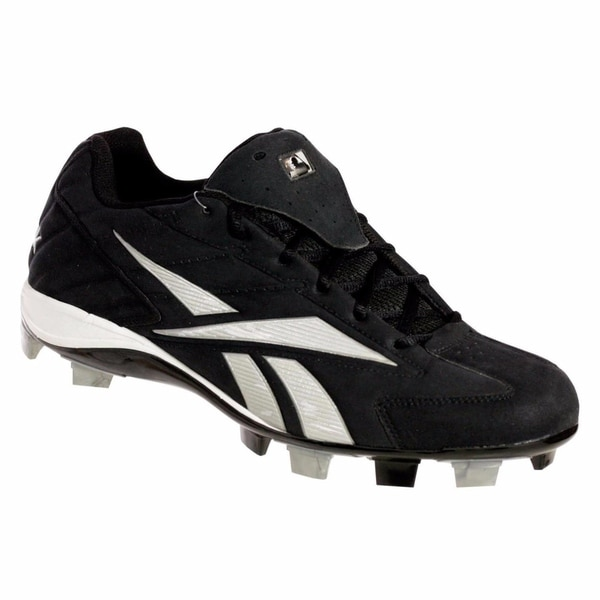 88889b84afb Reebok PRO HIGH N TIGHT II LOW M Mens Baseball Cleats Black  amp  White