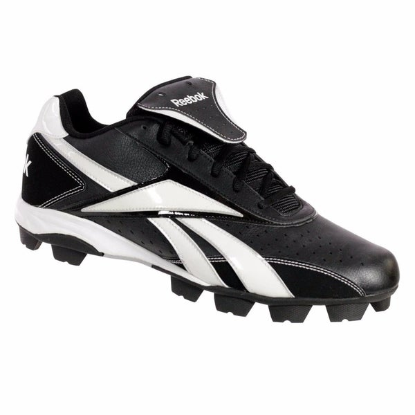 de1f0d0875a0 Shop Reebok VERO IV LOW MRT Mens Baseball Cleats Black   White ...