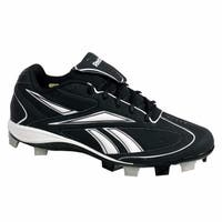 Reebok VERO III LOW MSL Mens Baseball Cleats Black & White