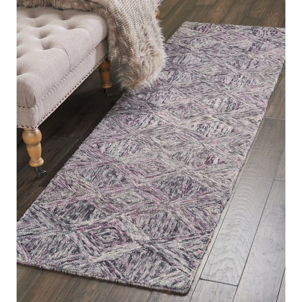 Nourison Linked Heather Contemporary Runner Rug (2'3 x 7'6) - 2'3 x 7'6