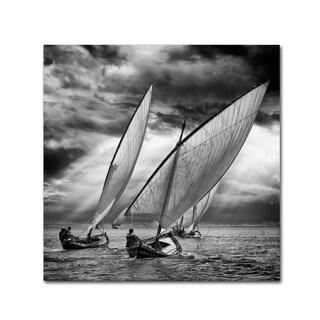 Angel Villalba 'Sailboats And Light' Canvas Art
