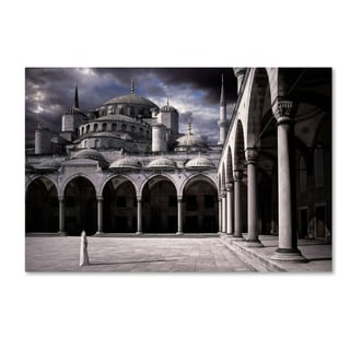 Daniel Murphy 'Lady And The Mosque' Canvas Art