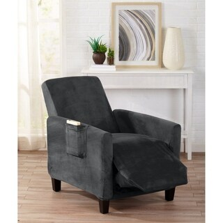 Home Fashion Designs Velvet Plush Form Fit Recliner Slipcover (2 options available)