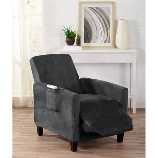 Form Fit, Slip Resistant Furniture Protector Featuring Velvet Fabric. Gale Collection Recliner Slipcover by Home Fashion Designs