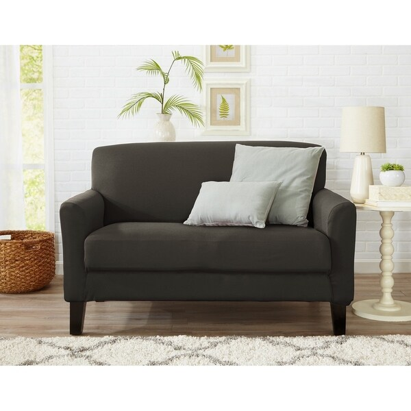 Dawson Collection Twill Form Fit Loveseat Slipcover