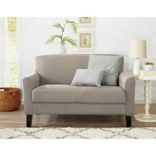 Home Fashion Designs Dawson Collection Twill Form Fit Loveseat Slipcover