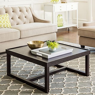 ABBYSON LIVING Conrad Espresso Wood Square Coffee Table