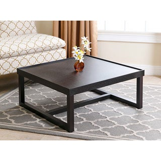 ABBYSON LIVING Conrad Espresso Wood Square Coffee Table