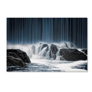 Keijo Savolainen 'The Blue Curtain' Canvas Art