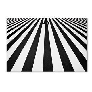 Kouji Tomihisa 'Stripe' Canvas Art