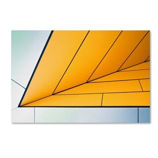 Linda Wride 'Yellow Dart' Canvas Art