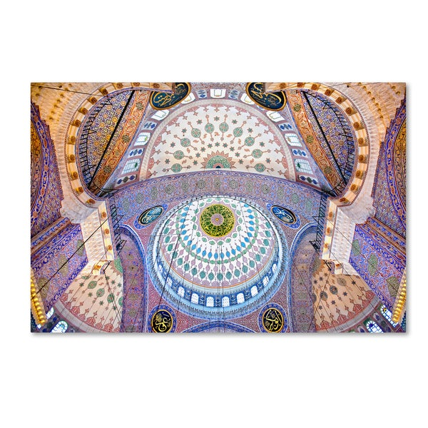 Nora De Angelli 'The Blue Mosque' Canvas Art
