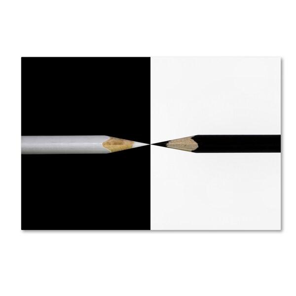 Udo Dittmann 'Opposed' Canvas Art