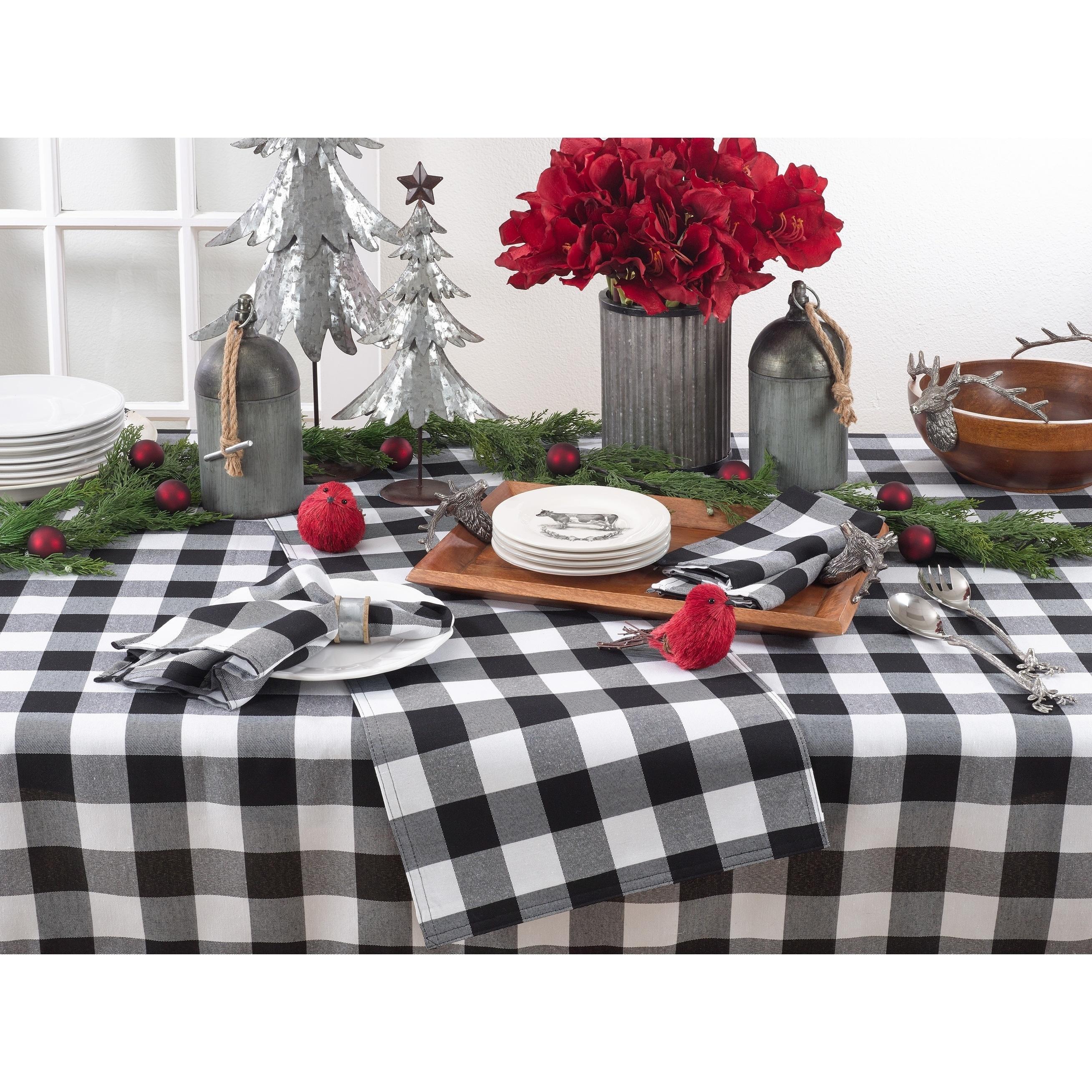Cool Buffalo Plaid Design Cotton Blend Tablecloth Ibusinesslaw Wood Chair Design Ideas Ibusinesslaworg