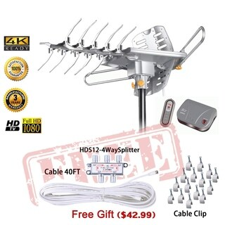 HD2605 LAVA HDTV Digital Rotor Amplified Outdoor TV Antenna