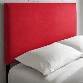 Humble + Haute Kalix Suede Red Upholstered Headboard