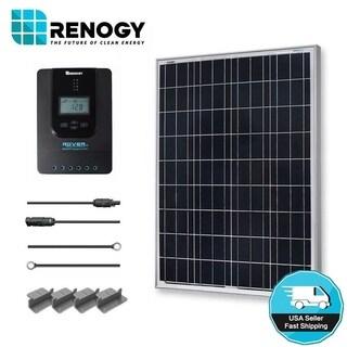 Renogy 100W 12V Poly Solar Starter Kit w/ MPPT Charge Controller